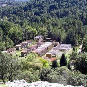 Ein Bild der spanischen Zuchtstation Guadalentin aus der Vogelperspektive.